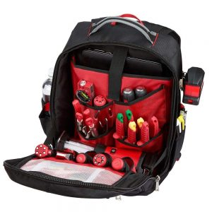 Milwaukee Low Profile Tool Backpack - Open